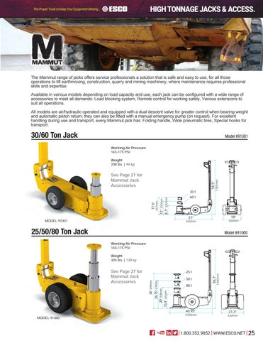 Page 25 of High Tonnage Jacks & Accessories