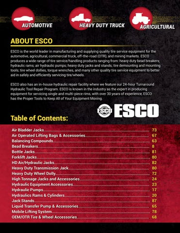 Page 2 of About ESCO