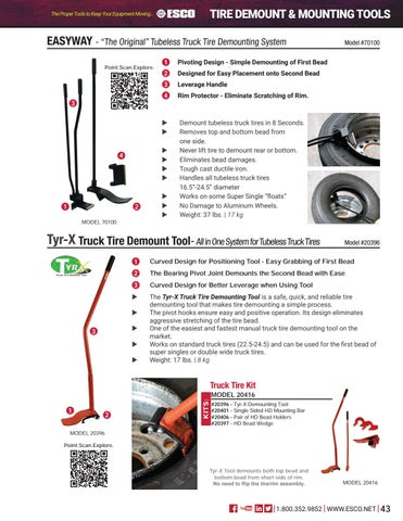Page 43 of Tire Demount & Mounting Tools
