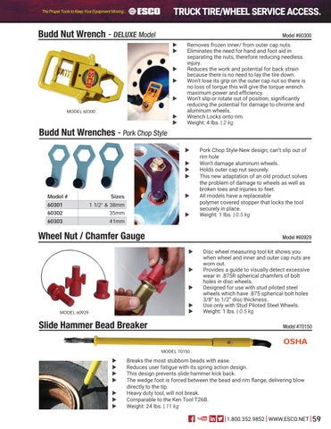 Page 59 of Truck Tire/Wheel Service Accessories