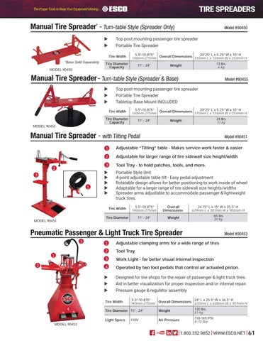 Page 61 of Tire Spreaders