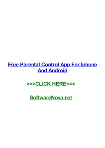 Free parental control iphone apps