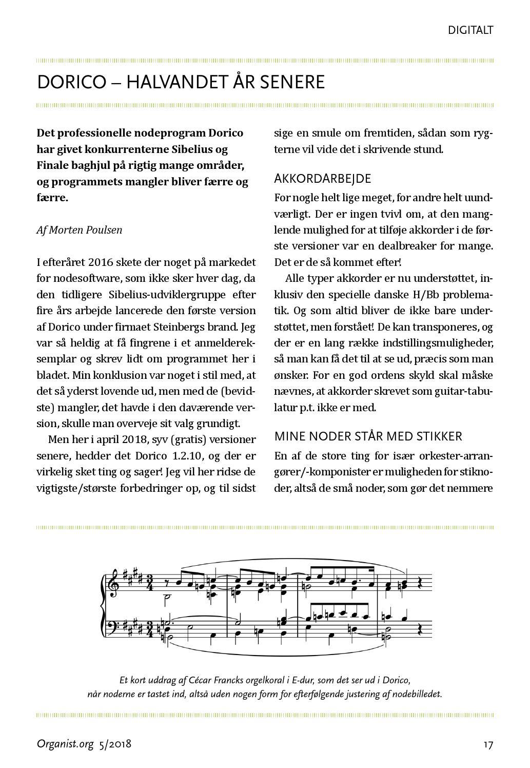 Organist org nr  5 2018 by Organistforeningens fagblad - issuu