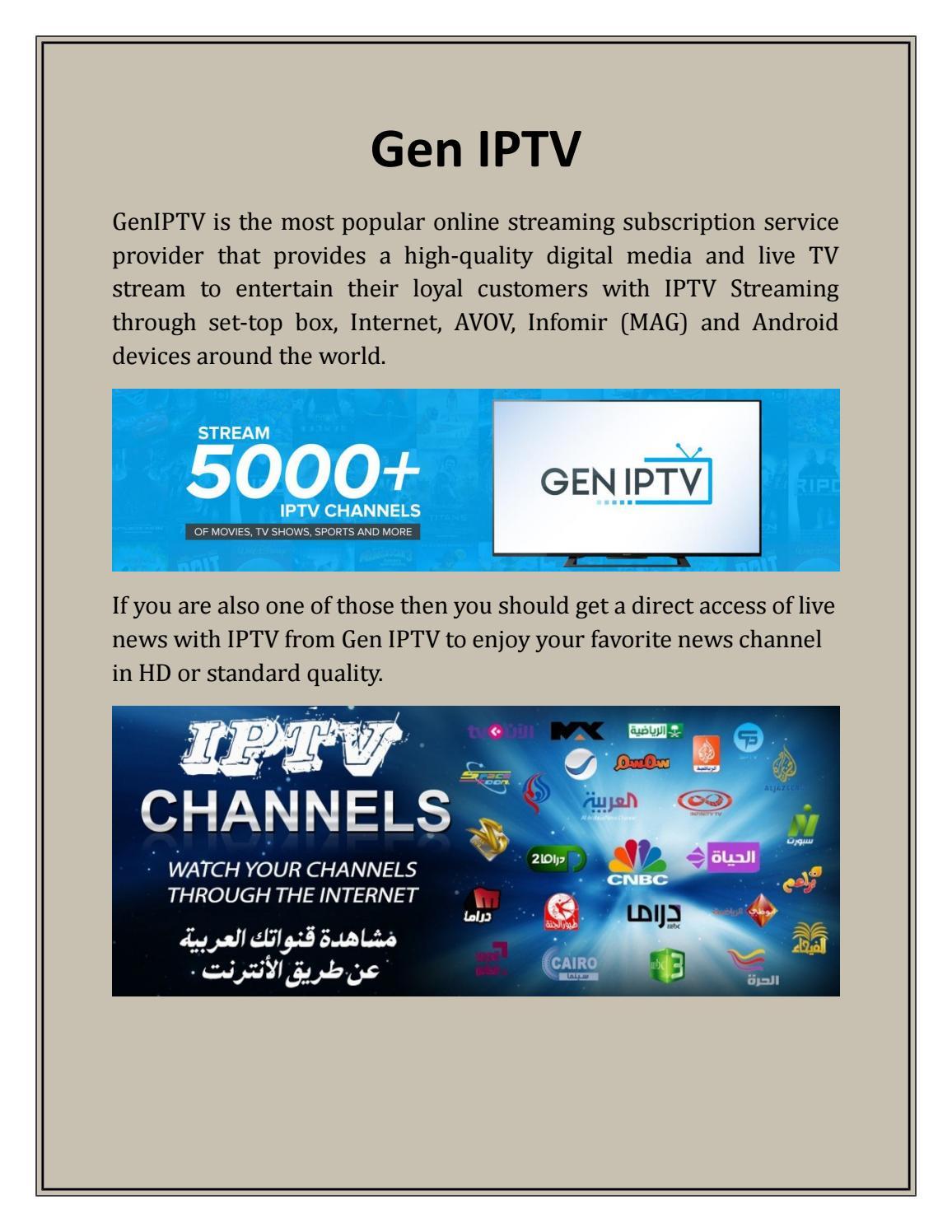 Stream Live Sports at Gen IPTV by Gen IPTV - issuu