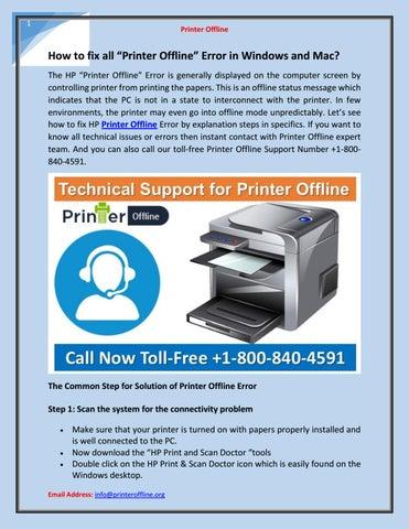 "How to fix all ""Printer Offline"" Error in Windows and Mac"