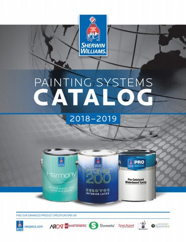 Sherwin Williams Painting Systems Catalog 2018 By