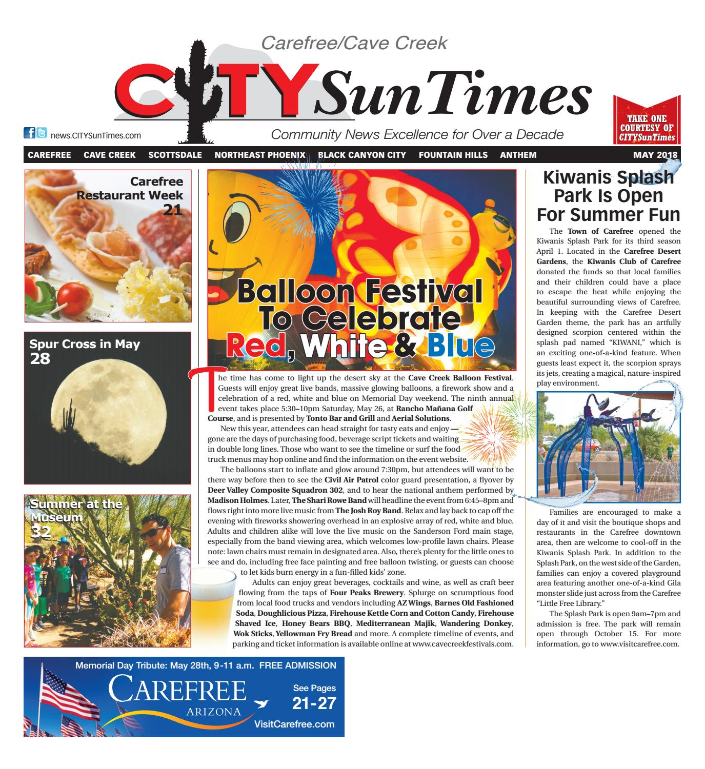 33505a83ae Carefree Cave Creek CITYSunTimes May 2018 Issue by Jenifer Lee - issuu