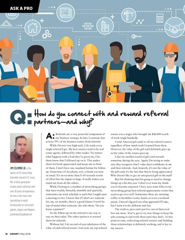 Page 16 of How one pro connects with and rewards referral partners—and why