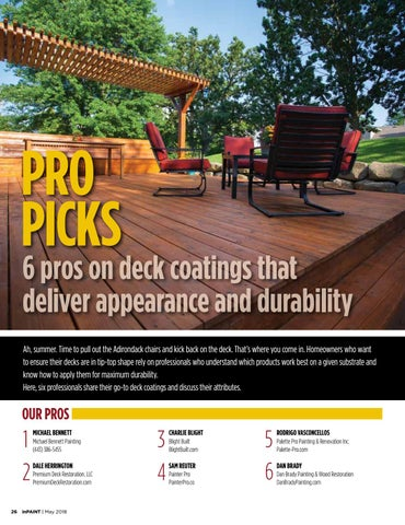 Page 26 of Pros on deck coatings that deliver appearance and durability