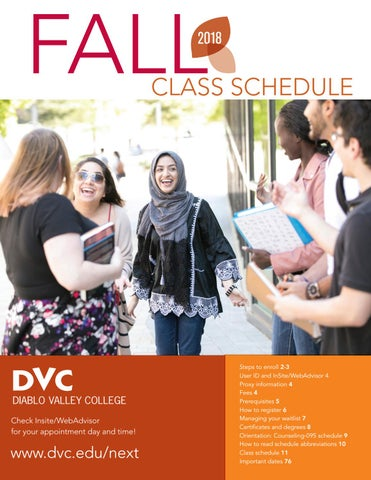 DVC Fall 2018 Class Schedule by Diablo Valley College - issuu