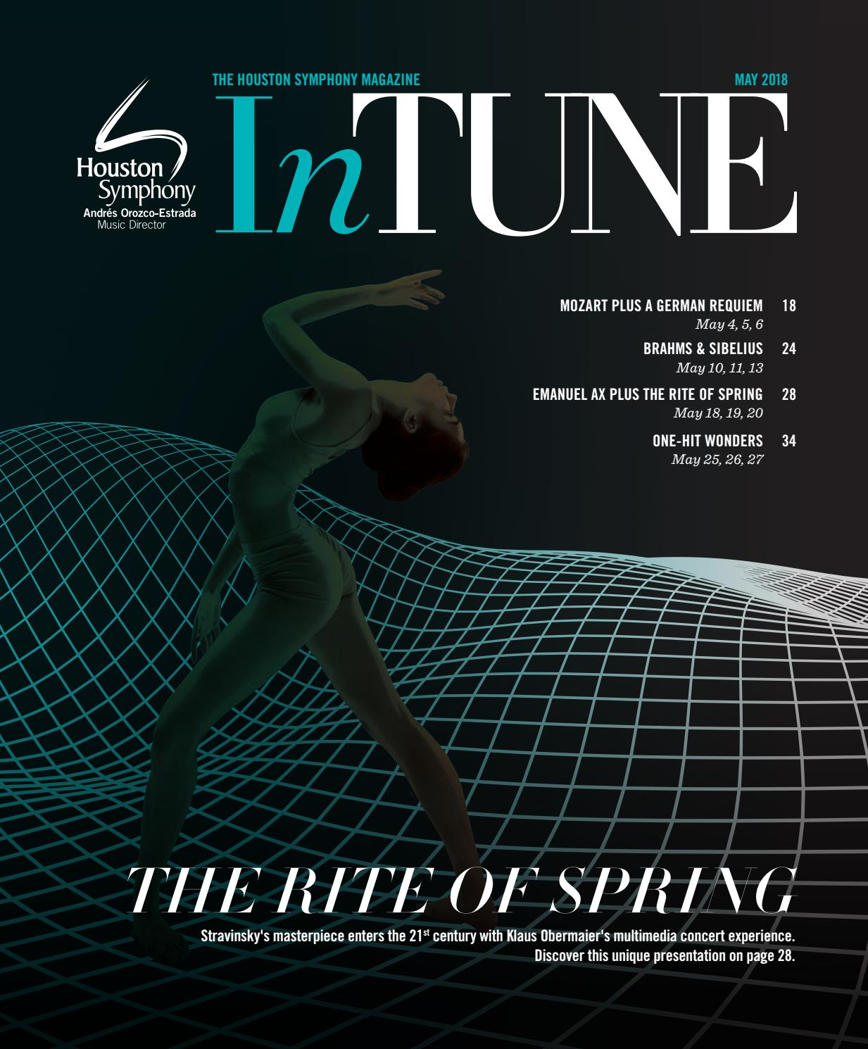 InTune — The Houston Symphony Magazine — May 2018 by Houston