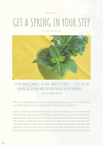 Page 104 of RECIPE: Glowing Green Smoothie