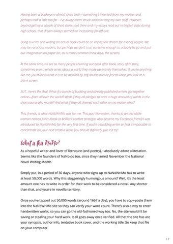 Page 19 of Writer's Corner: The Magic of NaNoWriMo