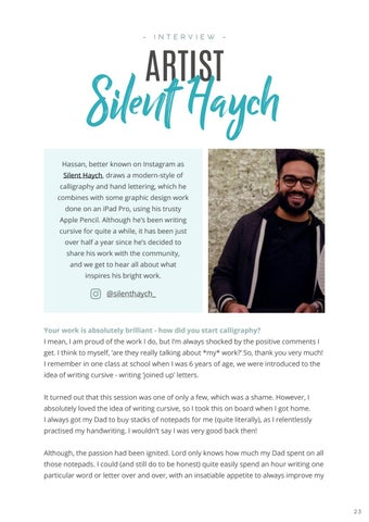 Page 25 of Interview: Silent Haych