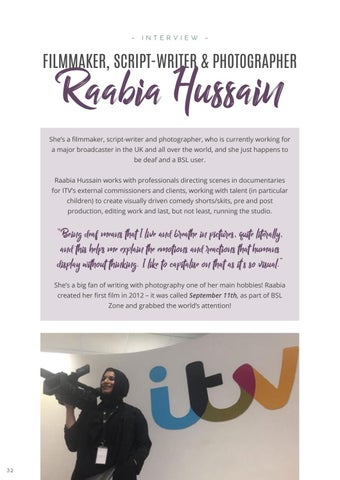 Page 34 of Interview: Raabia Hussain