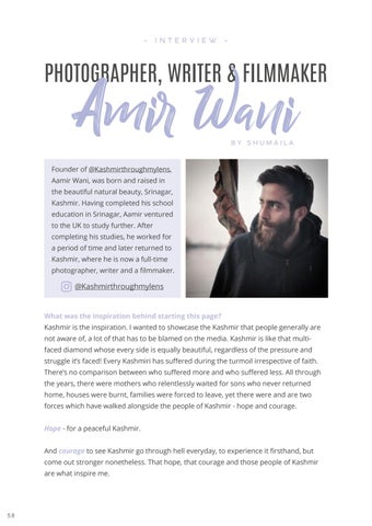 Page 60 of Interview: Amir Wani