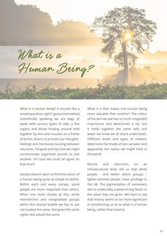 Page 83 of What is a human being?