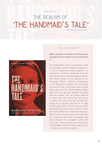 """Page 87 of BOOK REVIEW: """"The Handmaid's Tale"""""""
