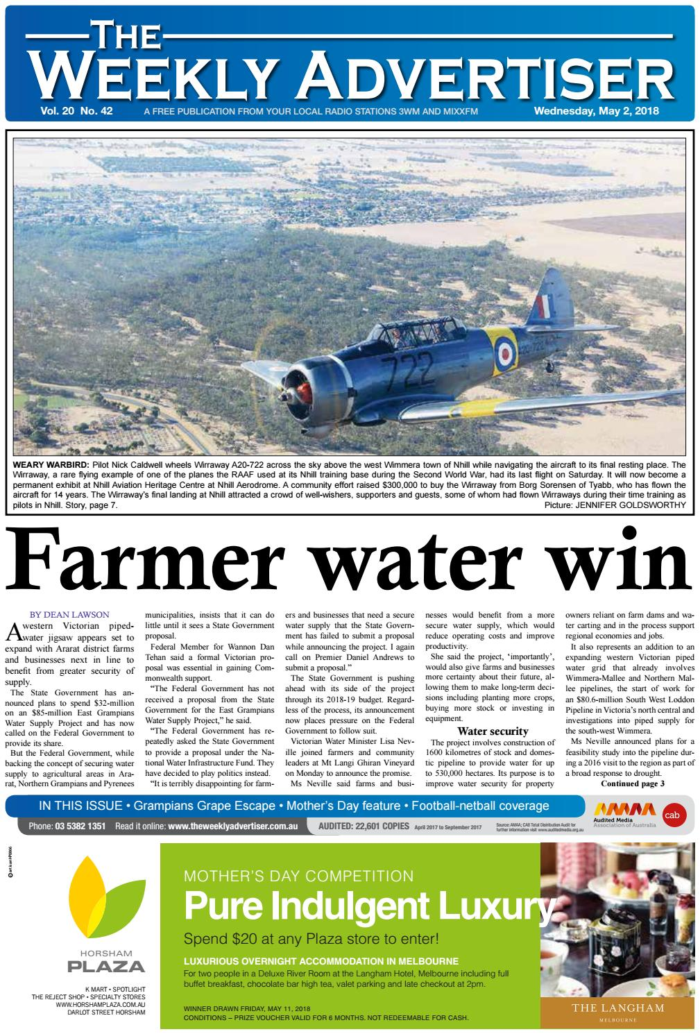 The weekly advertiser wednesday may 2 2018 by the weekly advertiser issuu