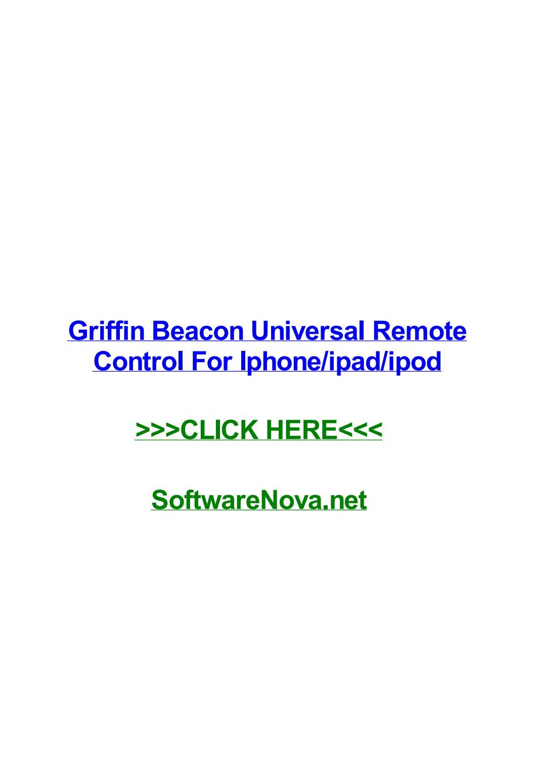 Griffin beacon universal remote control for iphoneipadipod by connielsmw -  issuu