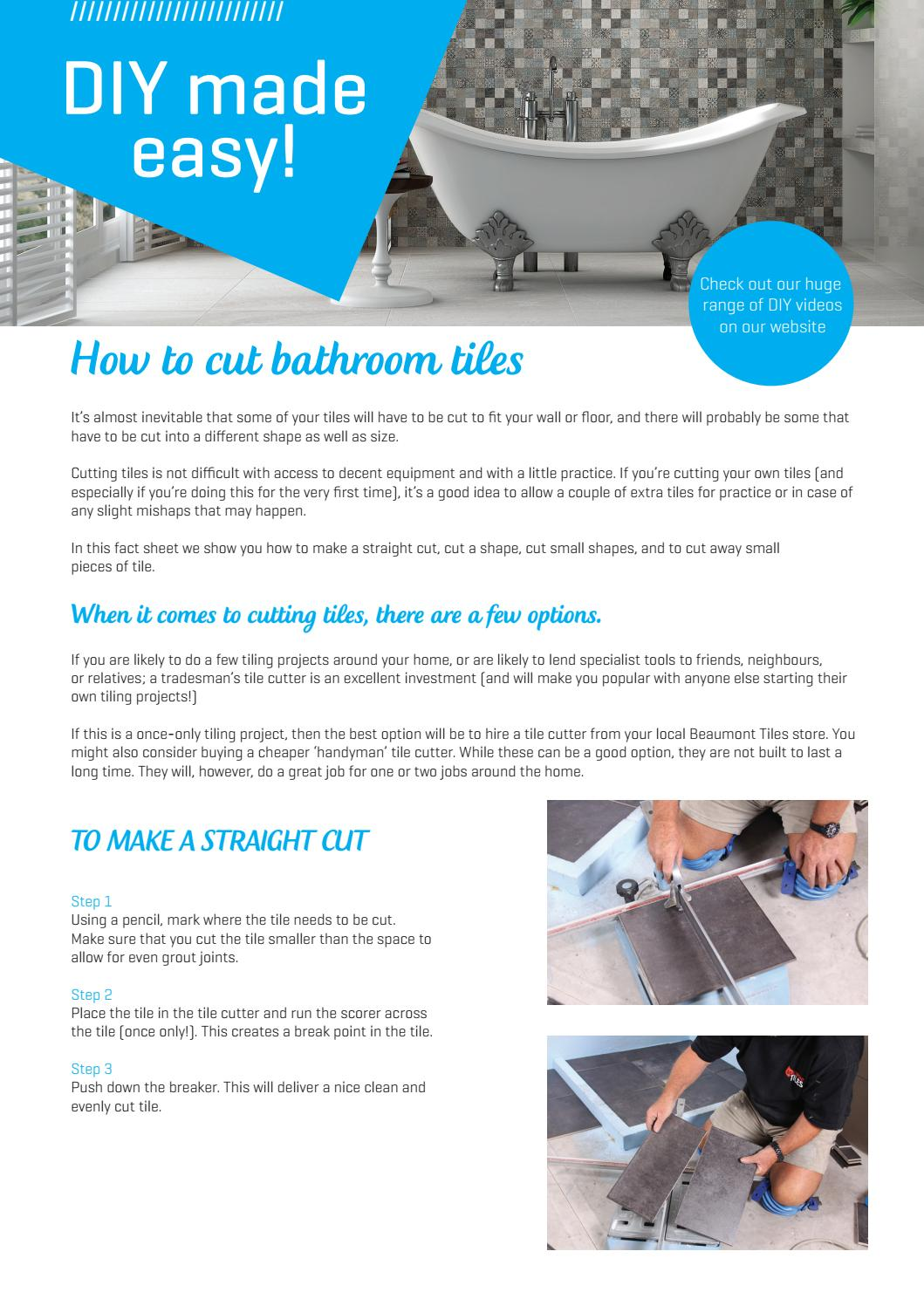 Bathroom cut by Beaumont Tiles - issuu