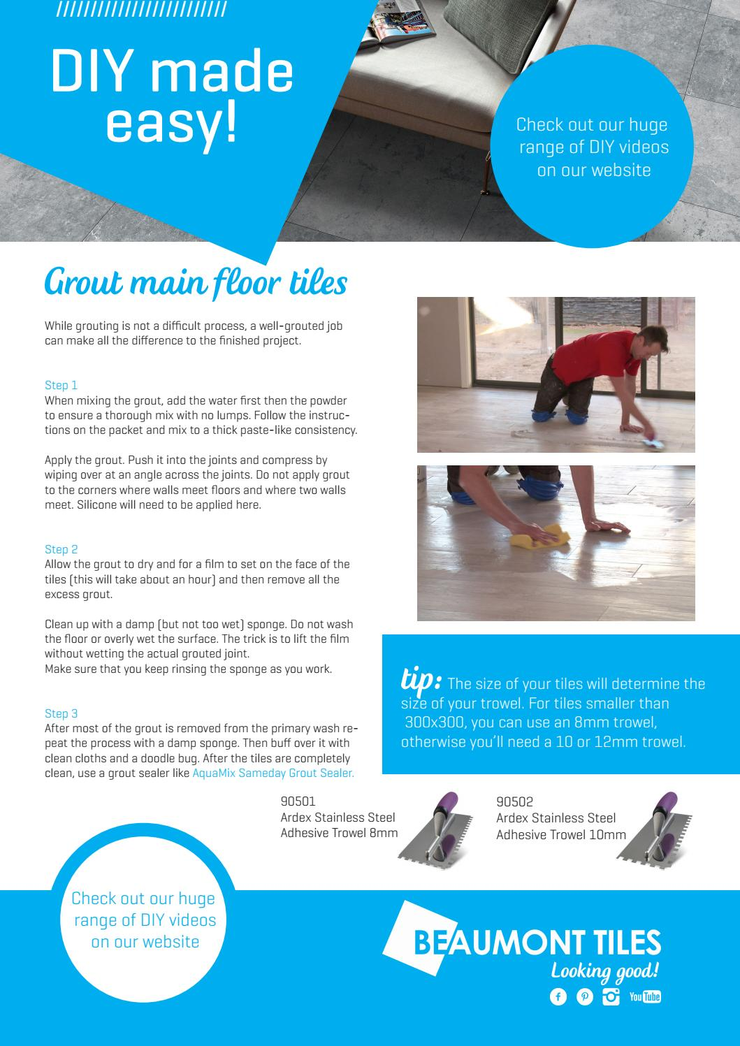 Main Floor Grout By Beaumont Tiles Issuu