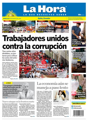 e507add370 Quito 02 de mayo de 2018 by Diario La Hora Ecuador - issuu