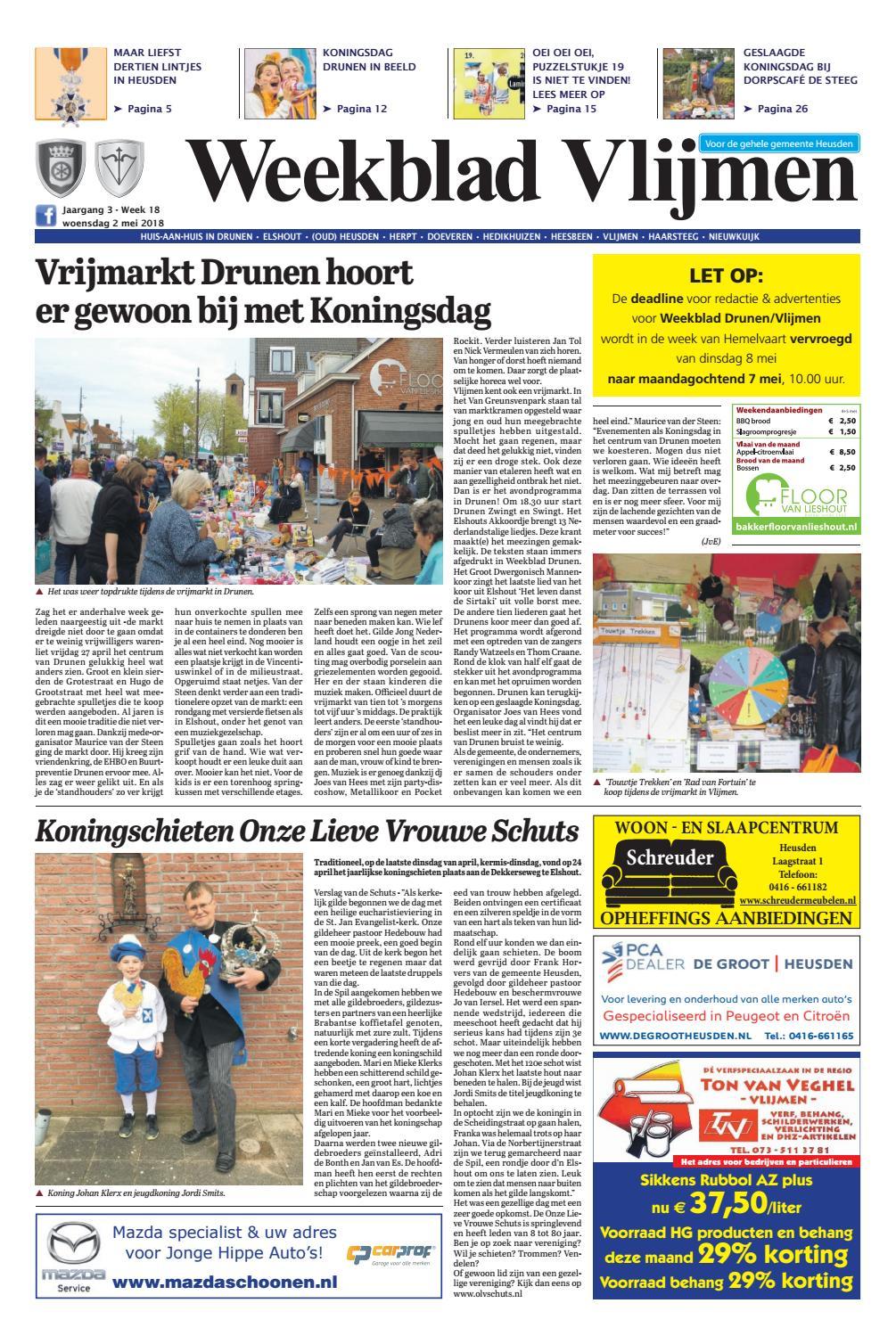 f5148178f16 Weekblad Vlijmen 02-05-2018 by Uitgeverij Em de Jong - issuu