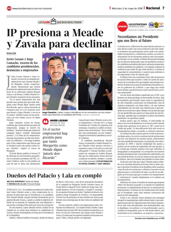 b2a9c5e3edd El Sol de México 2 de mayo del 2018 by El Sol de México - issuu