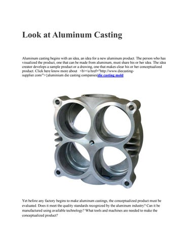 look at aluminum casting by danny567 issuu