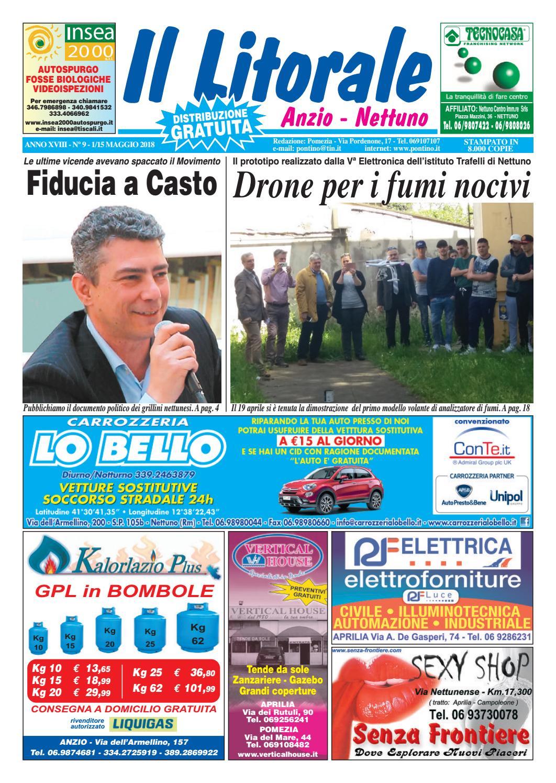 77b495e872 Il Litorale - Anno XVIII - N. 9 - 1/15 Maggio 2018 by Il Pontino/Il  Litorale - issuu