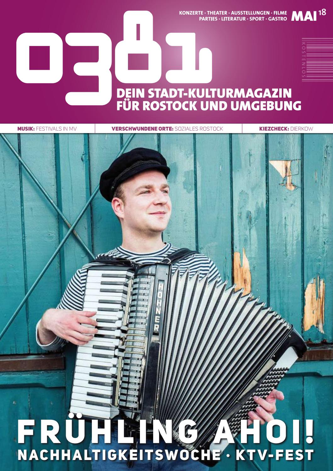 0381 – Dein StadtKulturMagazin für Rostock und Umgebung Mai