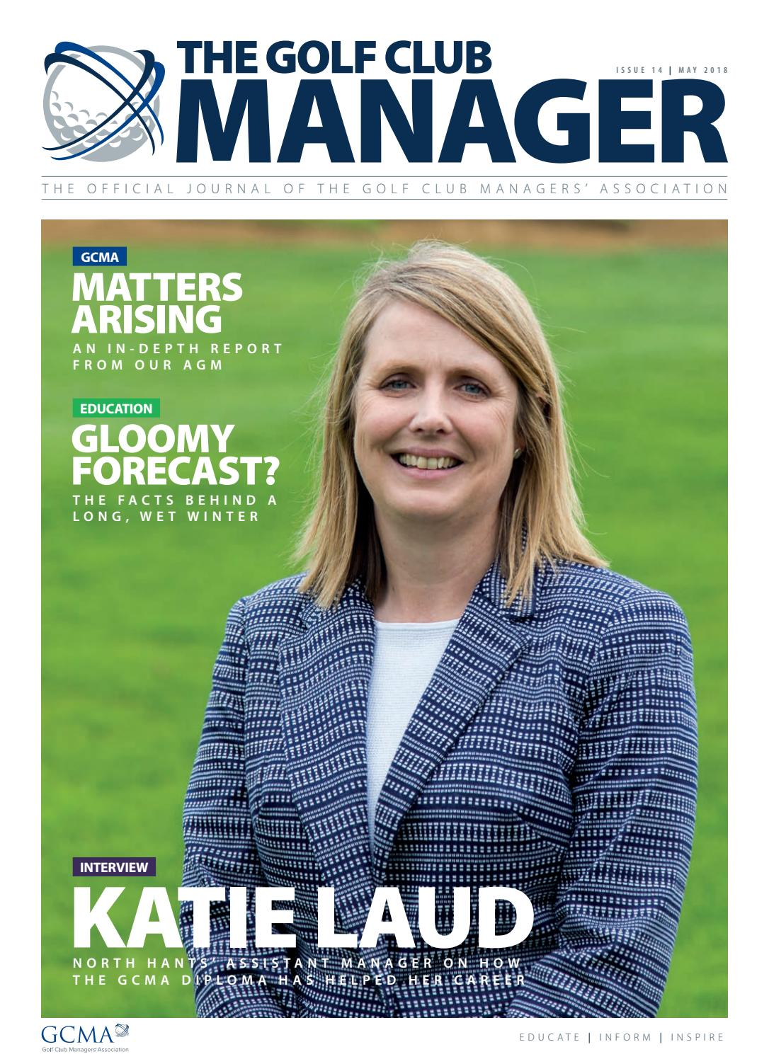 The Golf Club Manager: May 2018 by Golf Club Managers
