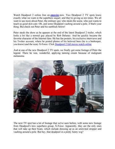 Watch Deadpool 2 Online Free By Amy J Issuu