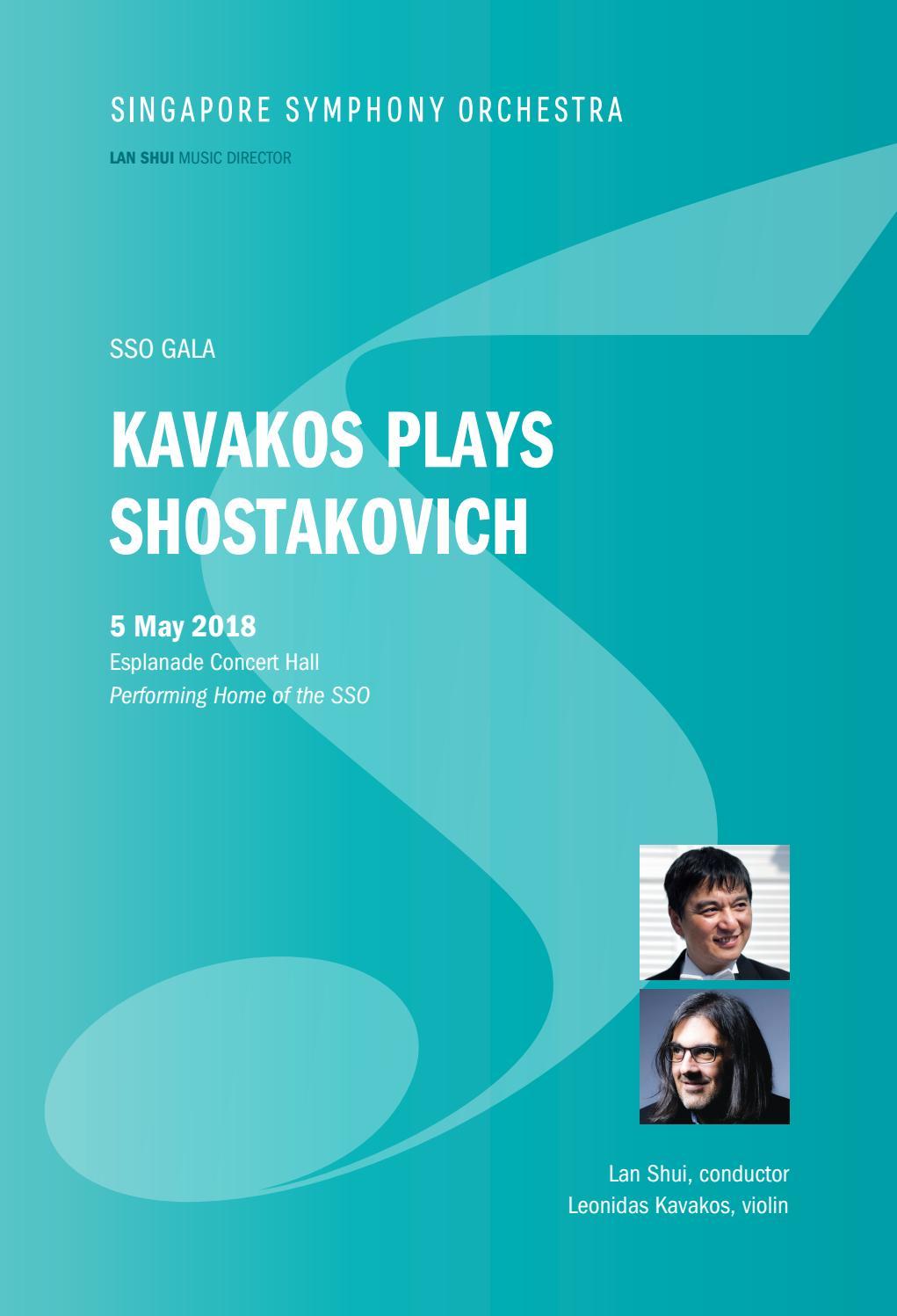 SSO Gala • Kavakos Plays Shostakovich by Singapore Symphony - issuu