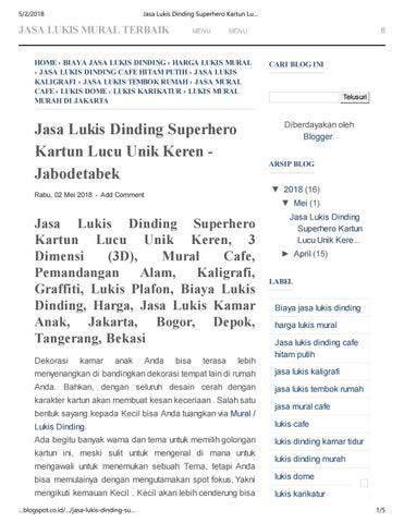 Jasa Lukis Dinding Superhero Kartun Lucu Unik Keren Jabodetabek