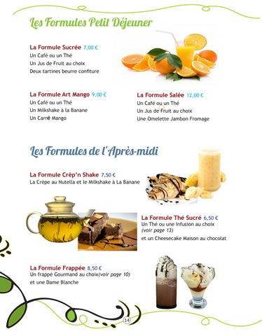 Page 14 of Les Formules et Menus