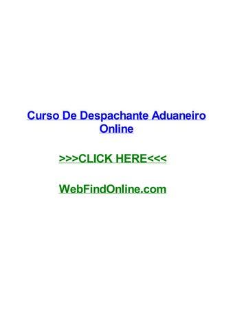 curso de despachante aduaneiro online by douggyiw issuu