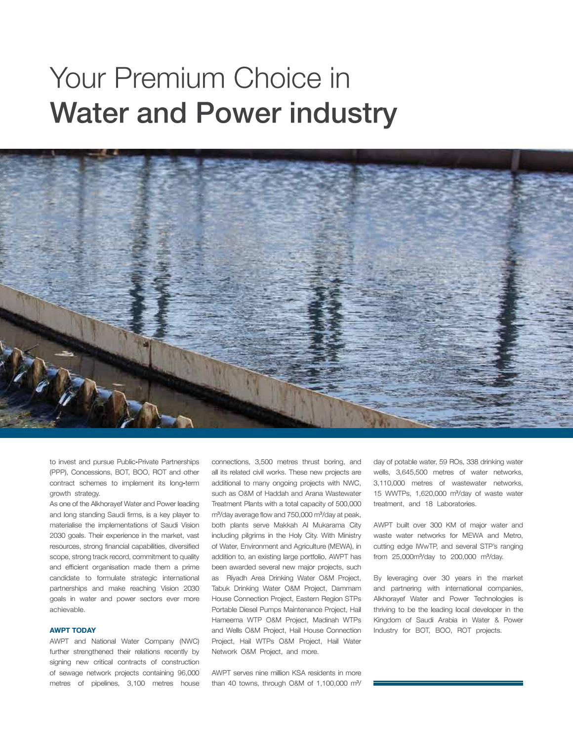 Water and power channel page