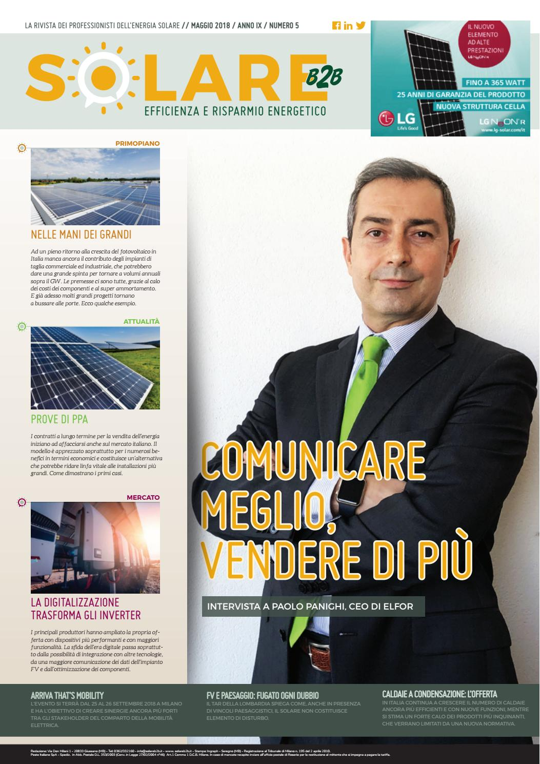 Vendere Energia Elettrica Da Fotovoltaico solare b2b - maggio 2018 by by editoriale farlastrada - issuu