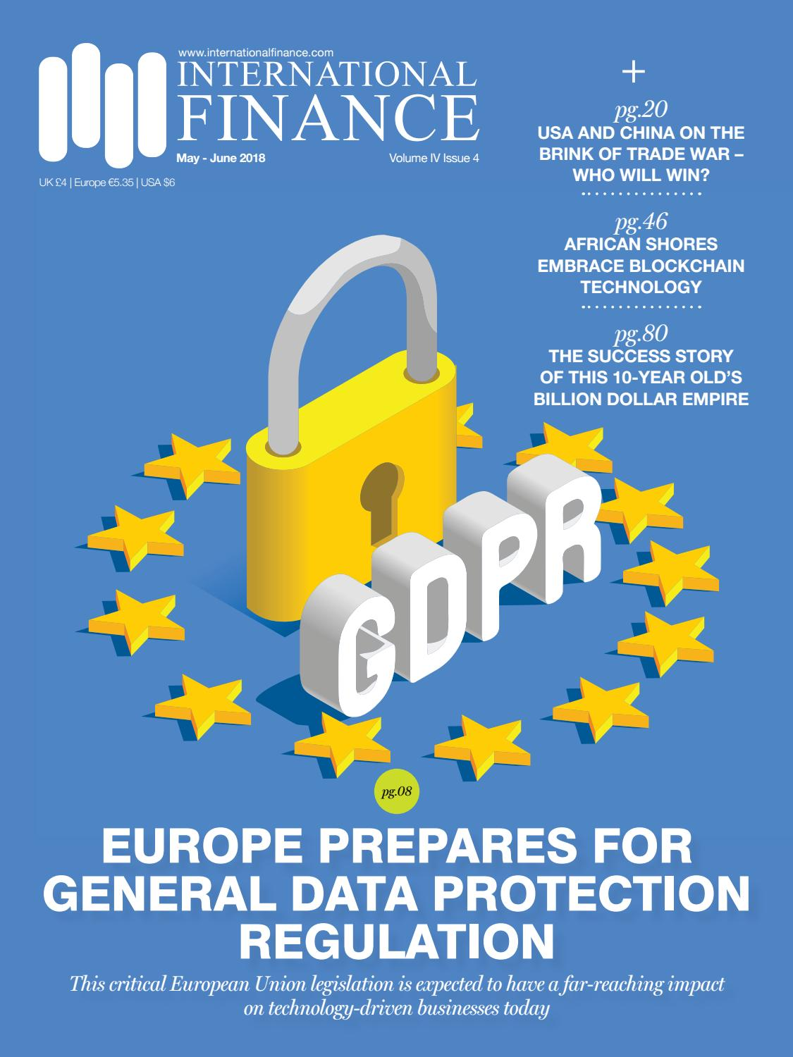 International Finance May - Jun 2018: Europe prepares for GDPR by ...