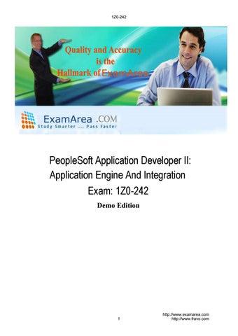 Exam 1Z0-242 PeopleSoft Application Developer II