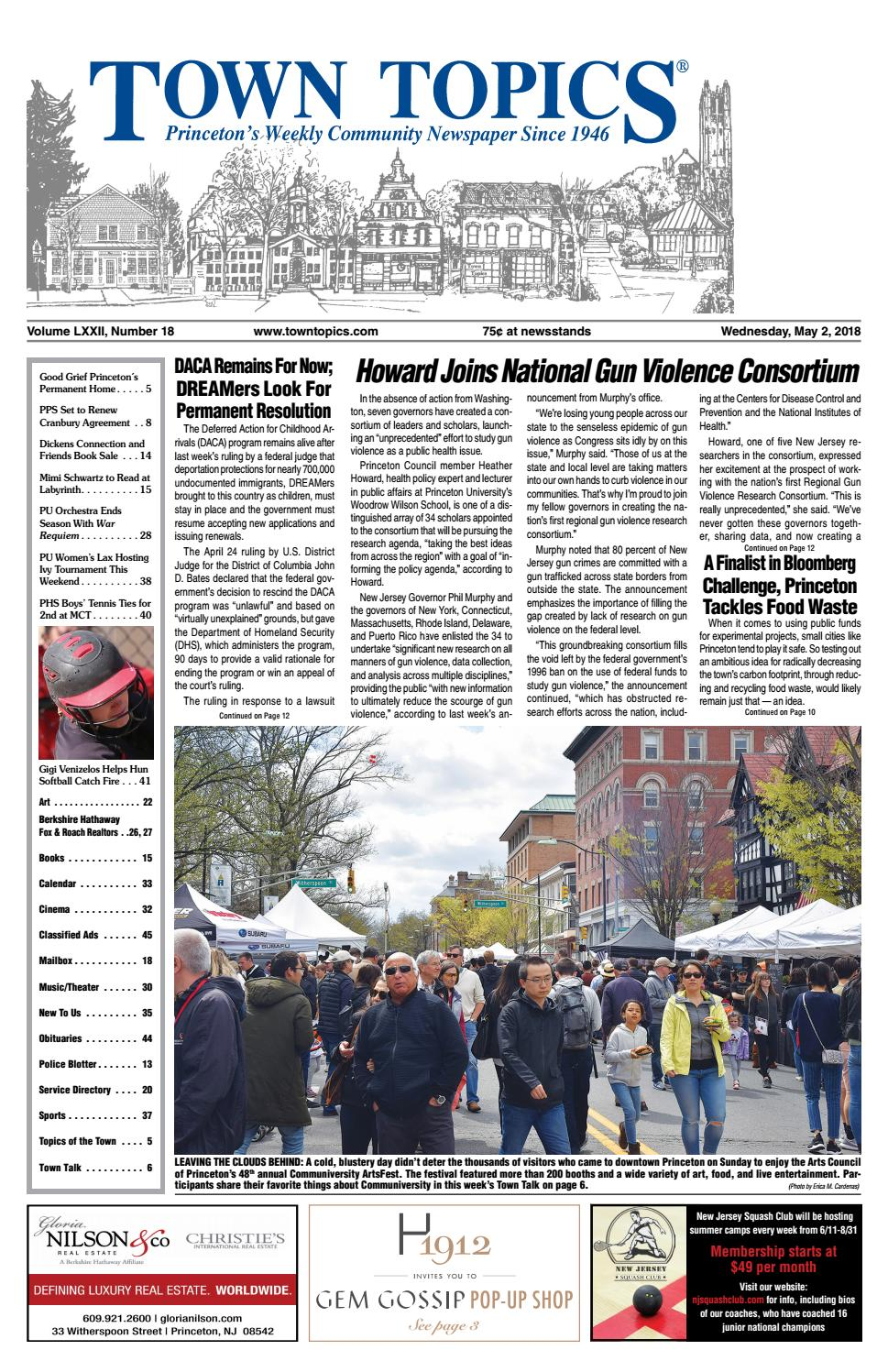 Town Topics Newspaper May 2, 2018 by Witherspoon Media Group - issuu