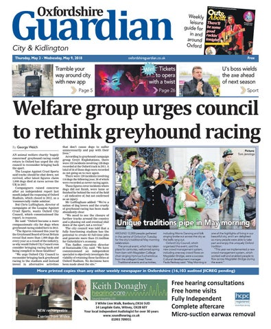 7a5da4b0 03 may 2018 oxfordshire guardian city by Taylor Newspapers - issuu