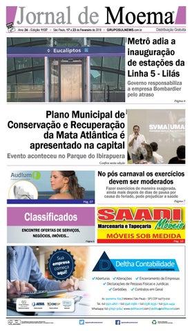 c33bf29e35df JORNAL DE MOEMA - Edição 1137 - São Paulo, 17 a 23 de Fevereiro de 2018