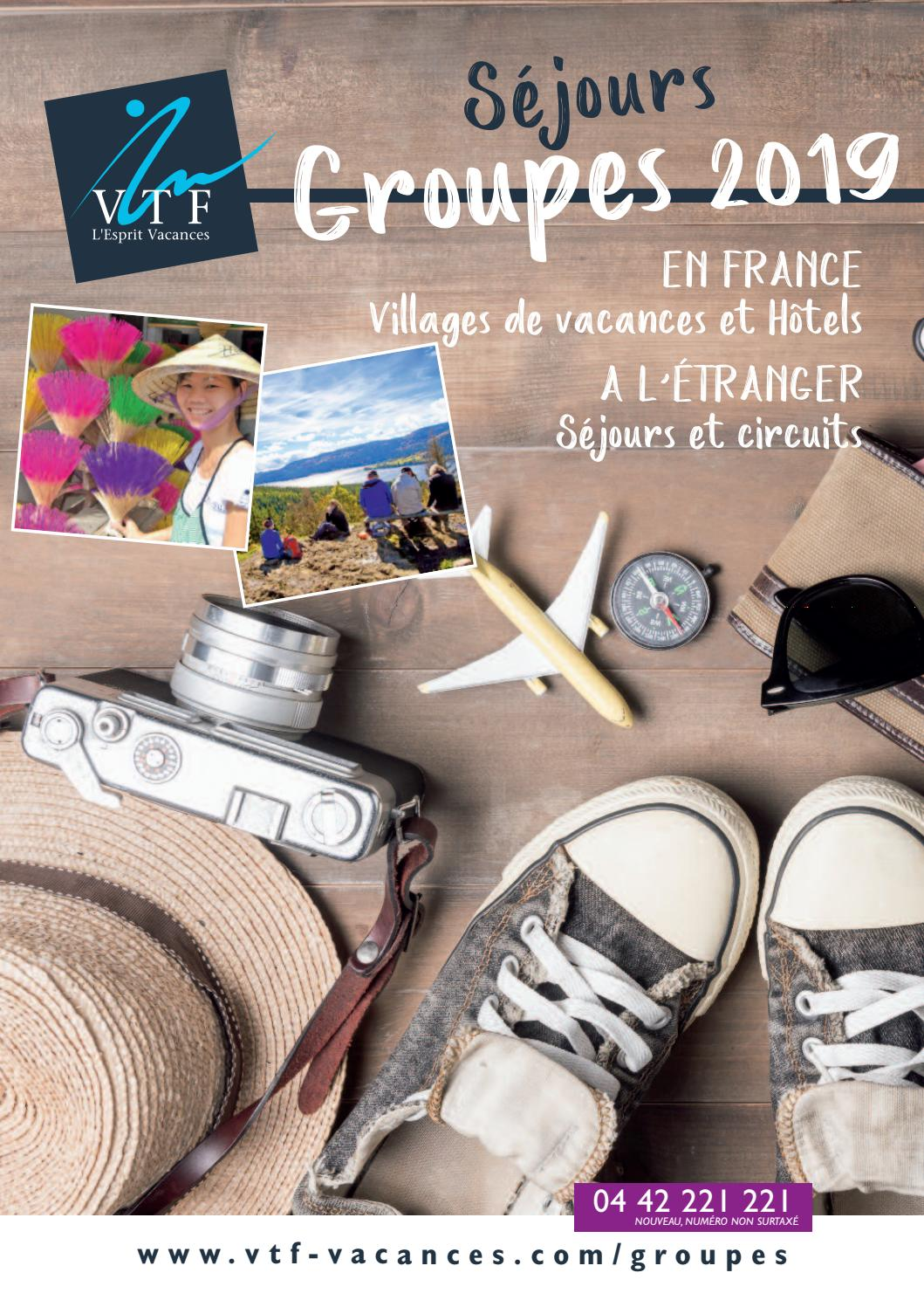 Vacances By Issuu Vtf Groupe L'esprit 2019 Brochure LSc3A5q4Rj