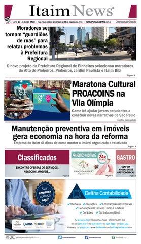 54bb92fcfc ITAIM NEWS - Edição 1138 - São Paulo, 24 de Fevereiro a 02 Março de 2018