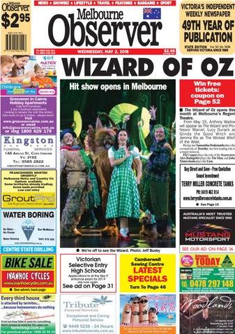 Melbourne Observer. May 2, 2018