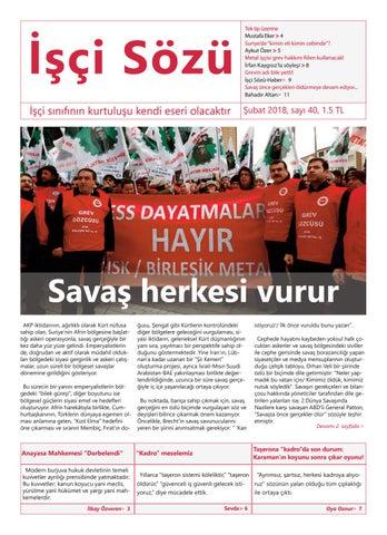 22d8ed6f92054 İşçi Sözü Şubat 2017 by İşçi Sözü - issuu