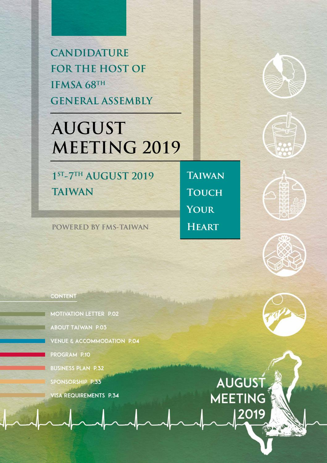 IFMSA August Meeting 2019-Taiwan Candidature by AM2019Taiwan